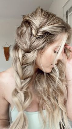 Braided Hairstyles For Wedding, Easy Hairstyles For Long Hair, Pretty Hairstyles, Protective Hairstyles, Bridesmaid Hairstyles, Bride Hairstyles, Long Blonde Hairstyles, Formal Hairstyles, Updo Hairstyle