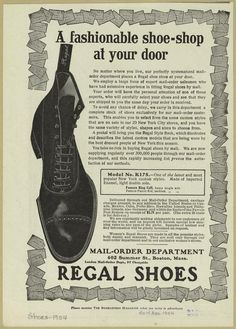 A fashionable shoe-shop at your door. (1904) Men's shoes