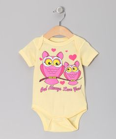Look at this #zulilyfind! Banana 'Owl Always Love You' Bodysuit - Infant #zulilyfinds