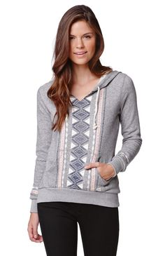 """A PacSun.com Online Exclusive!The women'sLove OF Roots Pullover Hoodie by Billabong for PacSun.com offers a tribal graphic on the front and soft fabric. We love the v-neckline and front pouch. Wear this hoodie with our denim or joggers!22"""" length23"""" sleeve lengthMeasured from a size smallModel is 5'9"""" and wearing a small60% cotton, 40% polyesterMachine washableImported"""