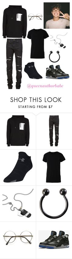 """""""Mikey day"""" by harrystyleslove02 ❤ liked on Polyvore featuring Topman, Yves Saint Laurent, Under Armour, Numero00, Diesel, Hot Topic, NIKE, men's fashion and menswear"""