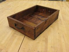 """12"""" x 17"""" Rustic Wooden Crate with Handles Made From Reclaimed Pallet Wood Fruit Crate, Vegetable Crate, Magazine Rack on Etsy, $34.99"""