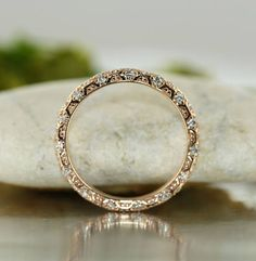 Love Nest-1/2 Carat of VS Diamond Set In 14K Rose Gold