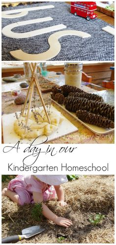 A Day in our Kindergarten Homeschool: Take a peek inside a day in a child-led kindergarten homeschool (from An Everyday Story)