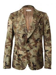 'Blade' Camouflage Printed Cotton-twill Jacket