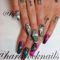 fun money nail wraps! by shopncla