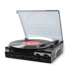 Jensen 3-Speed Turntable Record Player with 2 Speakers and Speed Adjustment