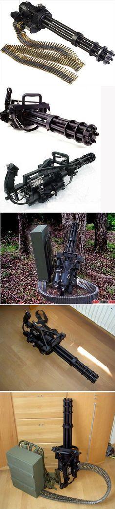Nome: Unidades de I & D aeronáuticas metralhadora XM214: americano ...