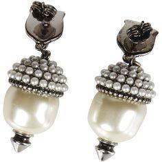 Silver-tone Faux Pearl Earrings - White Gucci KptoQO