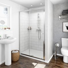 Find the perfect quality shower enclosures at affordable prices for your bathroom or ensuite. Including walk in shower enclosures and shower cubicles. Sliding Door Mechanism, Sliding Doors, Compact Bathroom, Small Bathroom, Bathroom Ideas, Loft Bathroom, Bath Ideas, Patio Door Coverings, Walk In Shower Enclosures