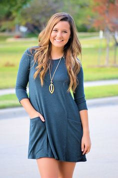 Fall Fashion, Fall Tunic, Sweater Tunic, OOTD- Nothing To Hide Dress/Tunic-Forest by Jane Divine Boutique http://ss1.us/a/PSqfglZD