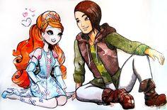 A princess and her huntsman
