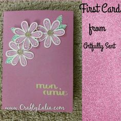New Artfully Sent Cricut cartridge from CTMH using Pretty Petals stamp set and pixie ink. Shop www.LHarris.CTMH.com