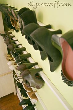 Super interesting idea for shoe storage...