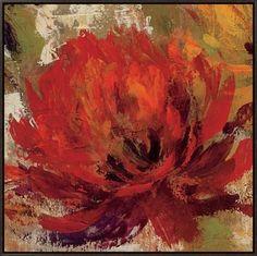 Fiery Dahlias II Framed Canvas Print by Silvia Vassileva at Art.com