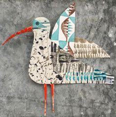 Collaged printed creatures from illustrator and designer Clare Youngs . Clare is a prolific artist and has published many boo...