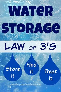 There are rules for everything - including water storage. We mostly take clean water for granted and knowing the water storage law of will keep you safe Emergency Preparation, Survival Prepping, Emergency Preparedness, Survival Skills, Survival Shelter, Emergency Supplies, Survival Food, Homestead Survival, Emergency Water