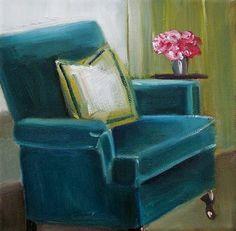 Velvet Peacock Chair, Janet Woodward-Hill