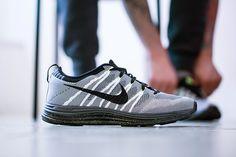 Nike Flyknit Lunar 1+ White/Black/Dark Grey-Volt