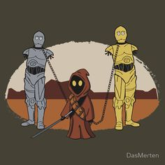 The Walking Dead and Star Wars T-Shirt Mashup - The WalkingDroids