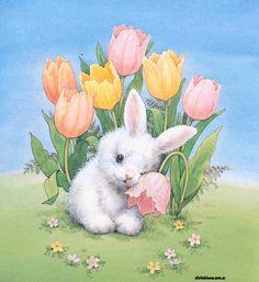 Pascua Ilustraciones, material uso docente