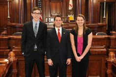 Students from Normal West High School came to the Capitol to shadow their local State Senator, Jason Barickman.