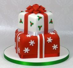 Brilliant 1000 Images About Christmas Cakes Ideas On Pinterest Christmas Easy Diy Christmas Decorations Tissureus
