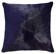 One Kings Lane - Natural Warmth - Torino 18x18 Hide Pillow, Purple