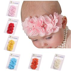 ROEWELL® Cute 6 Pcs Baby's Headbands Girl's Hair Bows Chiffon Hairband(6 Pack) - See more at: http://halloween.florenttb.com/costumes-accessories/roewell-cute-6-pcs-baby39s-headbands-girl39s-hair-bows-chiffon-hairband6-pack-com/