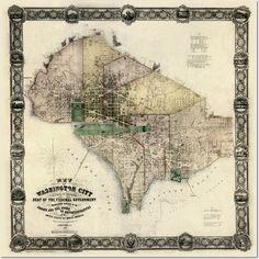 Antique Maps - Antique Map Reproduction - Washington DC Poster