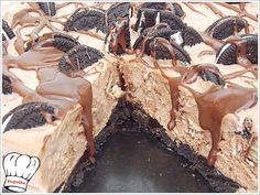 efkoli tourta pagoto karamela me oreo Greek Sweets, Greek Desserts, Party Desserts, Frozen Desserts, Greek Recipes, Dessert Recipes, Food Network Recipes, Food Processor Recipes, Jam Tarts