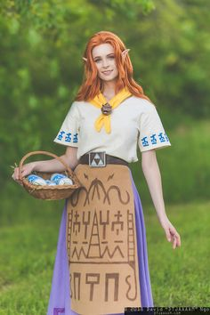 Malon from The Legend of Zelda: Ocarina of Time Cosplay Makeup, Cosplay Outfits, Cosplay Girls, Cosplay Costumes, Family Cosplay, Legend Of Zelda Costume, Legend Of Zelda Characters, Diy Halloween Costumes, Halloween Cosplay