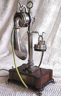 Unique telephone, apparently circa