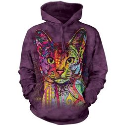 Mikina Abesínska mačka s kapucňou