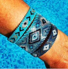 Bracelet miyuki mer et pays chaud