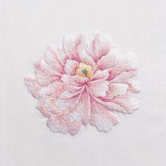 PeonyHand Towel - White Cotton – Henry Handwork