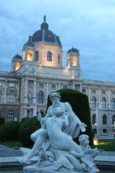 Beautiful Vienna, Austria after dark