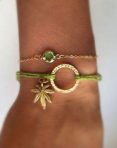 Super Cute Cannabis Charm Hemp Bracelet by EggsandBakey on Etsy Hemp Bracelets, Hemp Jewelry, Stoner Girl, Swagg, Weed, Mary Janes, Trippy, Jewelry Accessories, Super Cute
