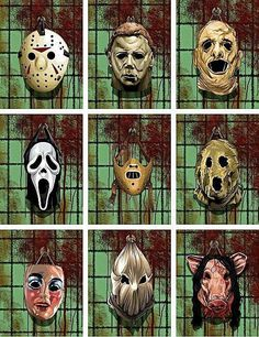 Dark art: Mask Collection...what my childhood nightmares were made of!
