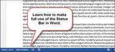 How to Use the Status Bar In Word