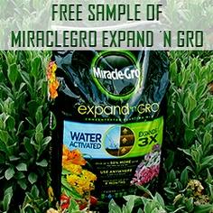 Free Sample of MiracleGro Expand 'n Gro