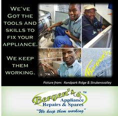 Domestic Appliance Repairs and Spares is our specialty - We keep them working. We aim to repair domestic appliances with the utmost sense of urgency and professionalism, creating community based service outlets in the form of franchises.
