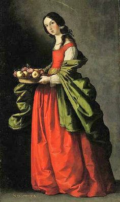 Francisco de Zurbarán (Spanish painter, 1598–1664) Saint Dorotea