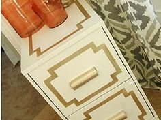 Glamorous File Cabinet Makeover not my exact style but what a cute inspiration