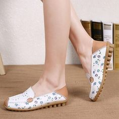 Obedient Cosyfeet Leapard Print Shoes Size 5 Pure White And Translucent Comfort Shoes Women's Shoes