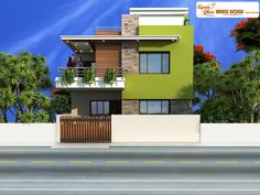 Simple Duplex House Design.Click on this link (http://www.apnaghar.co.in/pre-design-house-plan-ag-page-63.aspx) to view free floor plans (naksha) and other specifications for this design. You may be asked to signup and login. Website: www.apnaghar.co.in, Toll-Free No.- 1800-102-9440, Email: support@apnaghar.co.in