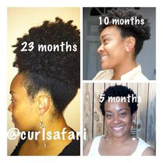 Natural hair growth...afro puff progress :-)