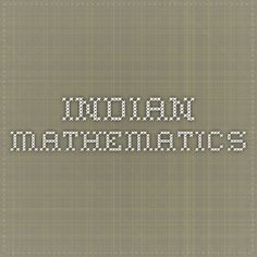 mathematics in india and china in The mathematics of egypt, mesopotamia, china, india, and islam is a wonderful collection, for which victor katz is to be commended this book is a one-stop source.