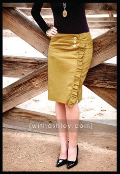 LOVE this skirt and tutorial on how to make it.