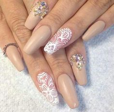 Beige matte and strass